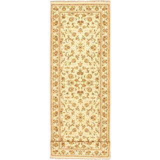 ecarpetgallery Hand-knotted Sino Persian 220L Beige Wool Rug (4' x 20'5)