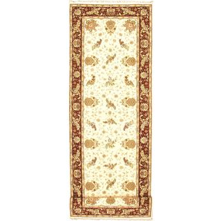 ecarpetgallery Sino Persian 220L Beige/Multi/Red Hand-knotted Wool Rug (4'0 x 20'0)