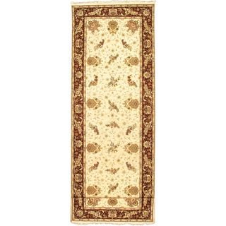 ecarpetgallery Hand-knotted Sino Persian 220L Beige and Wool Rug (4' x 20'9)