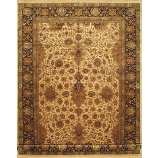 ecarpetgallery Hand-knotted Mirzapur Beige/Black Wool Rug (11'10 x 17'10)