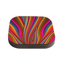 Kess InHouse Danny Ivan 'Believer' Multicolor Coasters (Set of 4)