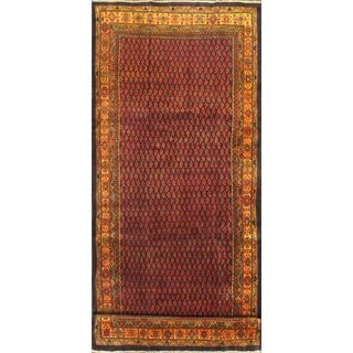 ecarpetgallery Hand-knotted Arak Red Wool Rug (4'8 x 11'7)