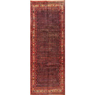 ecarpetgallery Hand-knotted Arak Red Wool Rug (3'7 x 10'2)