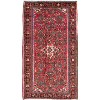 eCarpetGallery Hand-knotted Persian Hosseinabad Brown Wool Rug (5'4 x 9'6)