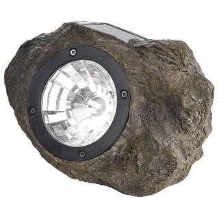 """Paradise GL28560ST 4.72"""" W X 8.27"""" L X 4.72"""" H Plastic Solar Rock Spot Light"""