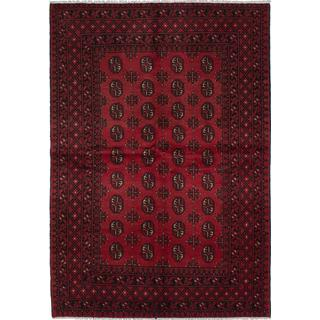 eCarpetGallery Khal Mohammadi Red Hand-knotted Wool Rug (5'4 x 7'8)
