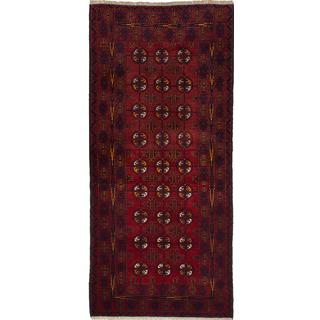 eCarpetGallery Rizbaft Red Wool Hand-knotted Rug (3'0 x 6'6)