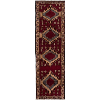 eCarpetGallery Rizbaft Hand-knotted Red Wool Rug (2'8 x 9'6)