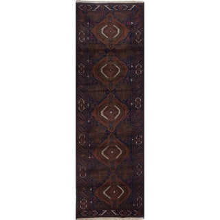 ecarpetgallery Hand-knotted Rizbaft Blue Wool Rug (2'9 x 9'3)