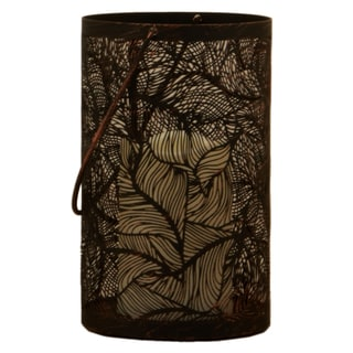 Smart Solar 84041-LC 8-inch Antique Black Panama LED Candle Lantern