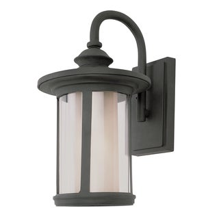 Bel Air Lighting CB-40040-BK 1 Light Doutdoor Wall Lantern with Double Glass
