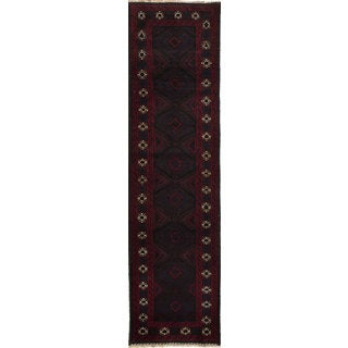 eCarpetGallery Rizbaft Black Wool Hand-knotted Rug (2'5 x 9'3)