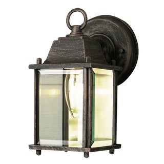 Bel Air Lighting CB-40455-RT 1 Light Porch Light With Clear Beveled Glass