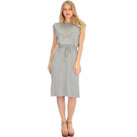 Lyss Loo Women's Classic Waist-Tie Midi Dress