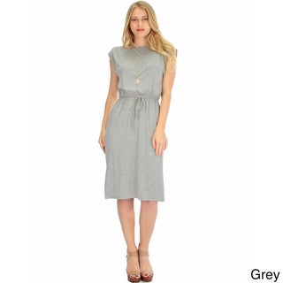 Lyss Loo Women's Classic Waist-Tie Midi Dress (4 options available)
