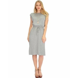 Lyss Loo Women's Classic Waist-Tie Midi Dress (More options available)