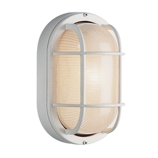 Bel Air Lighting CB-41005-WH 8.5-inch White Oval Globe Outdoor Light Fixture