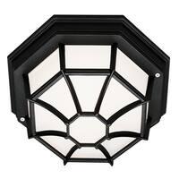 Bel Air Lighting CB-40581-BK 9-inch Black Flushmount Outdoor Light Fixture