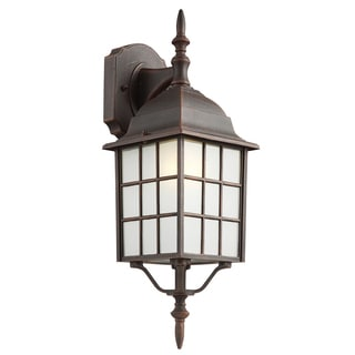 "Bel Air Lighting CB-4420-1RT 19"" Rustic Wall Lantern Fixture"