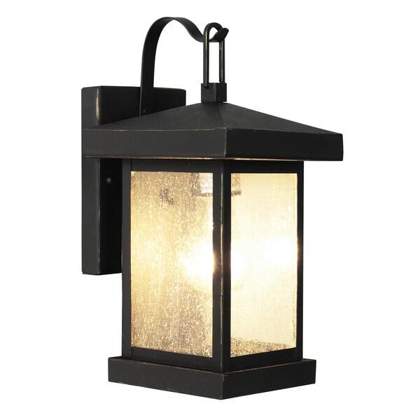 Bel Air Lighting CB-45640-WB 12-inch Weathered Bronze Outdoor Wall Lantern  sc 1 st  Overstock.com & Shop Bel Air Lighting CB-45640-WB 12-inch Weathered Bronze Outdoor ...