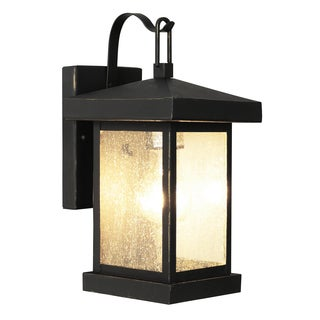 Bel Air Lighting CB-45640-WB 12-inch Weathered Bronze Outdoor Wall Lantern