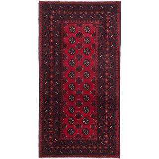 eCarpetGallery Khal Mohammadi Red Wool Hand-knotted Rug (3'3 x 6'4)
