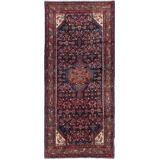 ecarpetgallery Persian Hand-knotted Hamadan Blue Wool Rug (3'10 x 8'9)