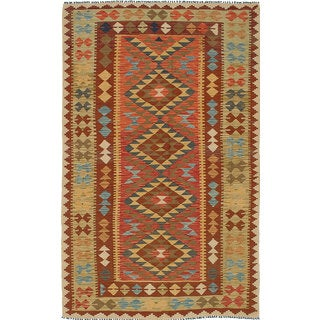 ecarpetgallery Handmade Sivas Red Wool Kilim Rug (4'11 x 8'1)
