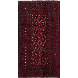 ecarpetgallery Hand-knotted Khal Mohammadi Red Wool Rug (3'5 x 6'4)