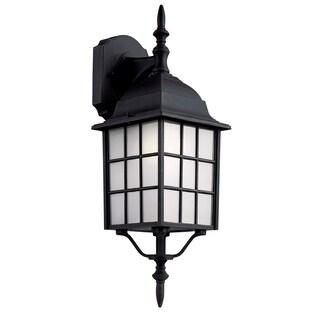Bel Air Lighting CB-4420-1BK 19-inch Outdoor Wall Lantern Fixture