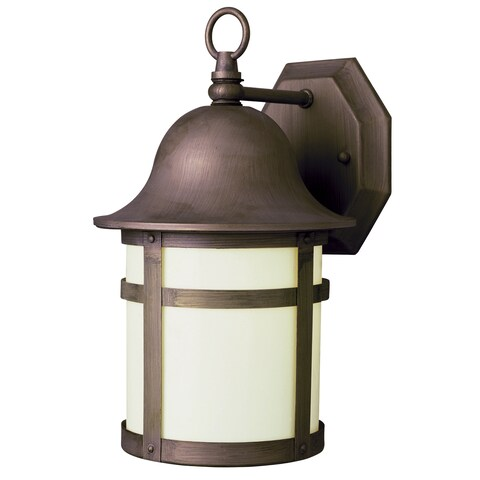 Bel Air Lighting CB-4580-WB 12-inch Weathered Bronze Outdoor Wall Light