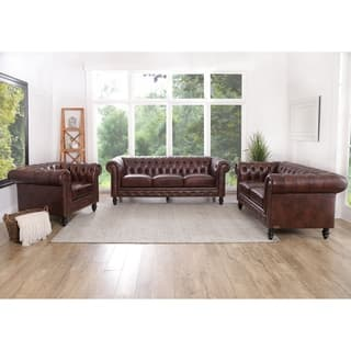 Abbyson Grand Chesterfield Brown Top Grain Leather 3 Piece Living Room Set https://ak1.ostkcdn.com/images/products/11807115/P18715242.jpg?impolicy=medium