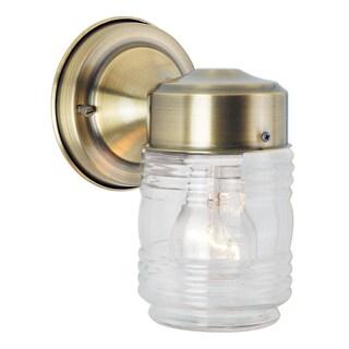 Bel Air Lighting CB-4900-AB 4-inch Antique Brass Jelly Jar Outdoor Light Fixture