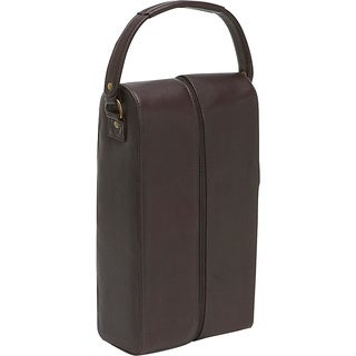 LeDonne Leather 2-Bottle Leather Wine Tote