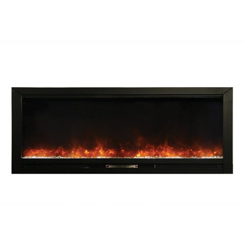 Y-Decor Knock-out Electric Built-in Black Finish Fireplace