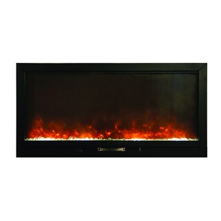 Y-Decor Black Finish Beautifier Built-in Electric Fireplace
