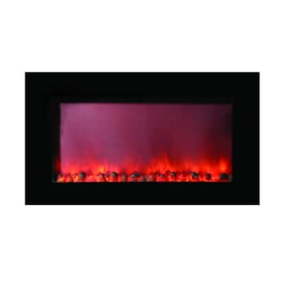 Y-Decor Black Finish Maximizer Electric Fireplace