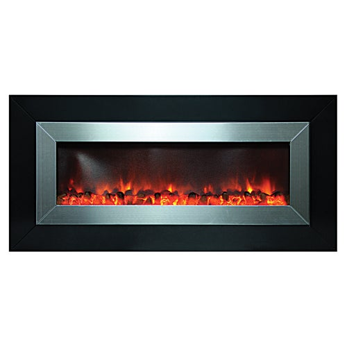 Y Decor Black Finish Stunner Electric Fireplace With