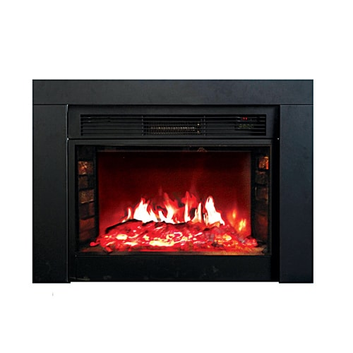 Y Decor Fp920 36 Electric Fireplace Insert In Black Free Shipping Today
