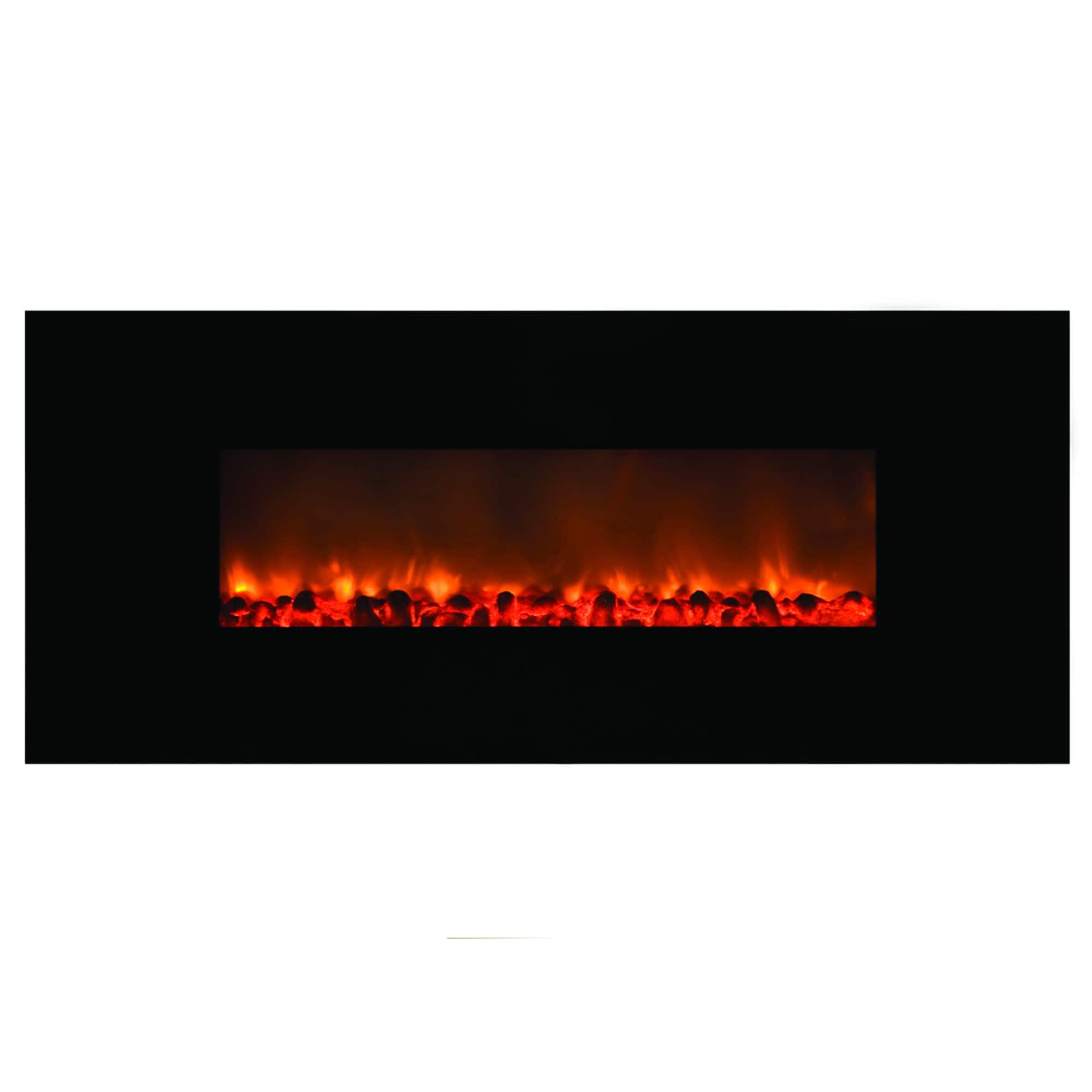 Y-Decor Black Finish Mood Setter (Electric Fireplace, 58....