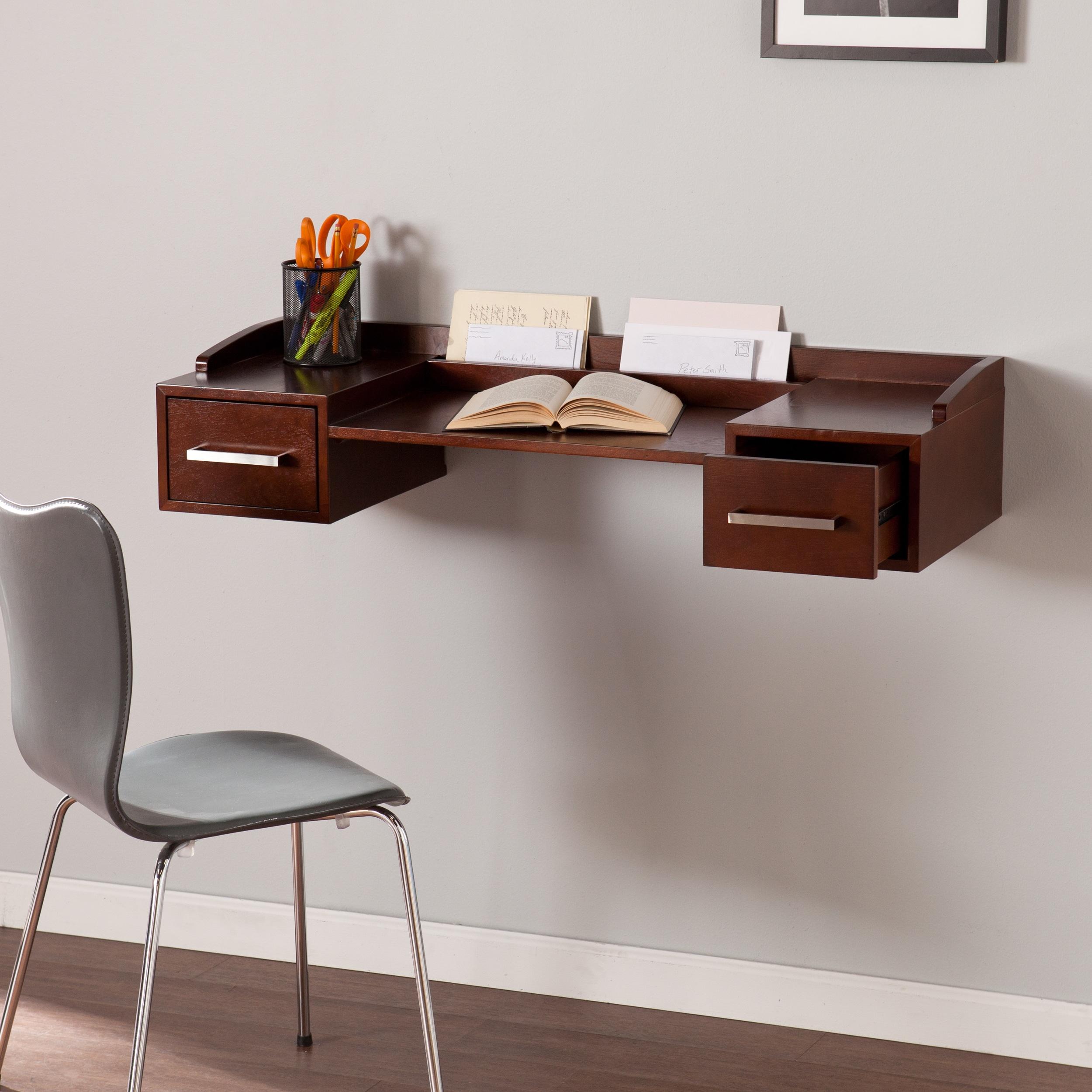 Harper Blvd Bradley Wall Mount Desk (OS1016OH), Brown, Si...