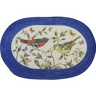 Achim Braided Love Birds Multi-color Polyester Rug (20 x 30)