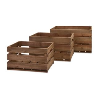 Ainsley Wood Crates - Set of 3