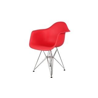 Hans Andersen Home Mid-Century Eiffel Polypropylene/Stainless Steel Dining Arm Chair