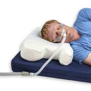 Hermell Products White Polyester/Memory Foam Cooling Gel CPAP Pillow