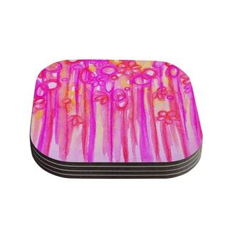 Kess InHouse Ebi Emporium 'Spring Sensations' Pink Magenta Coasters (Set of 4)