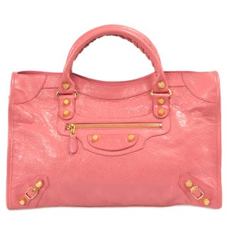 Balenciaga Giant 12 Gold City Medium Rose Azalee Leather Handbag