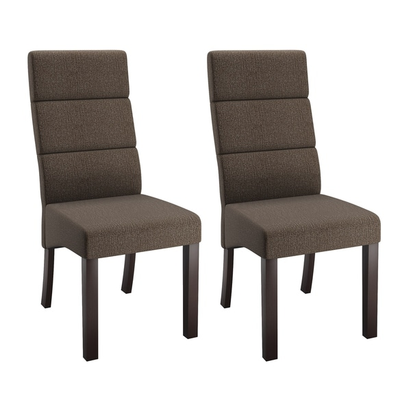 Corliving Antonio Upholstered Tall Back Dining Chairs Set Of 2