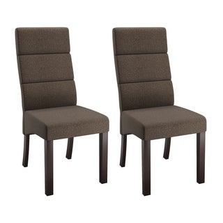 CorLiving Antonio Beige Upholstered Tall-back Dining Chairs (Set of 2)