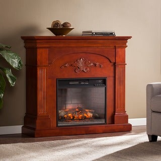 Harper Blvd Stewart Mahogany Infrared Electric Fireplace